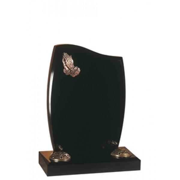 EC1 - Black Granite Cemetery Memorial Headstone