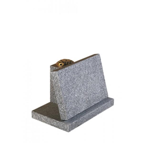 EC248 Light Grey Granite Tablet and Vase Memorial