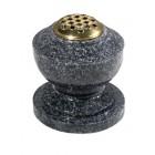 EC280 Dark Grey Granite Round Vase